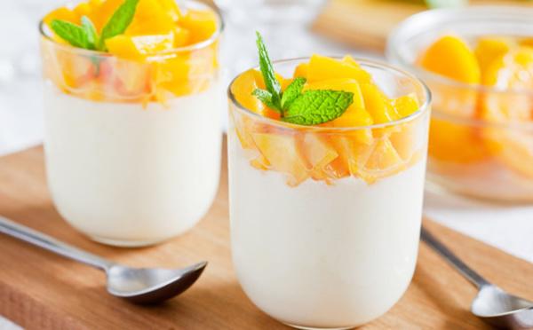 Panna cotta vanille et mangue