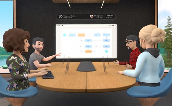 """""""Horizon Workrooms"""", un espace de travail virtuel lancé par Facebook"""