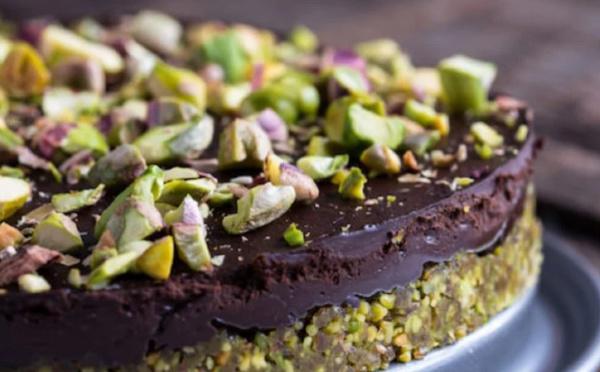 Gâteau au chocolat et à la pistache