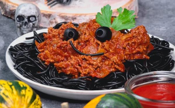 Spaghettis bolognaise pour le Halloween