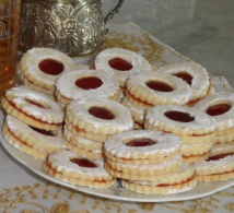 Biscuits sablés confiture