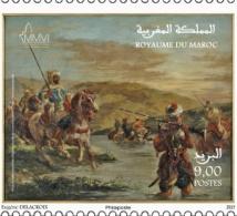 """Un timbre-poste à l'occasion de l'exposition """"Delacroix, souvenirs d'un voyage au Maroc"""""""